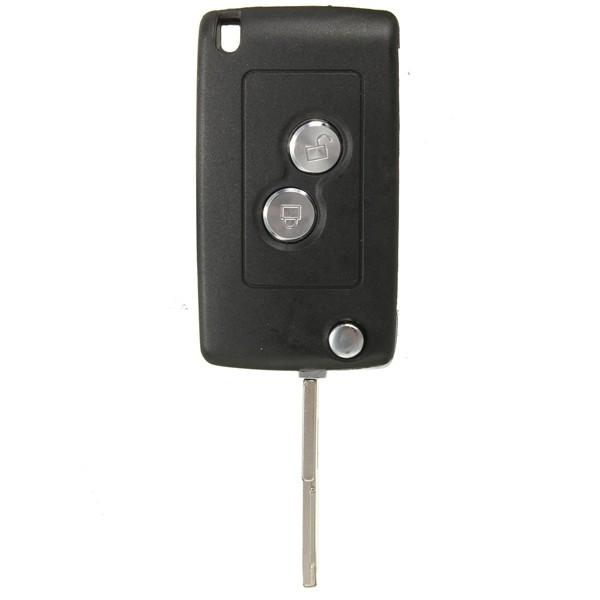 basculez plient 2 boutons la clé d'entrée lointaine keyless le cas de coquille pour citroen peugeot
