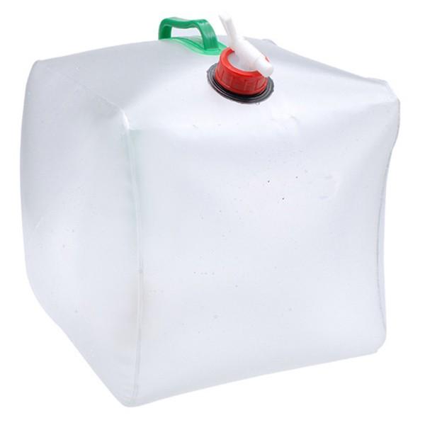 5L Araba Kullanılan Şeffaf Katlanır Sular Çanta Şişe Kampçılık Su Süpürgesi Su Taşıyıcı Konteyner