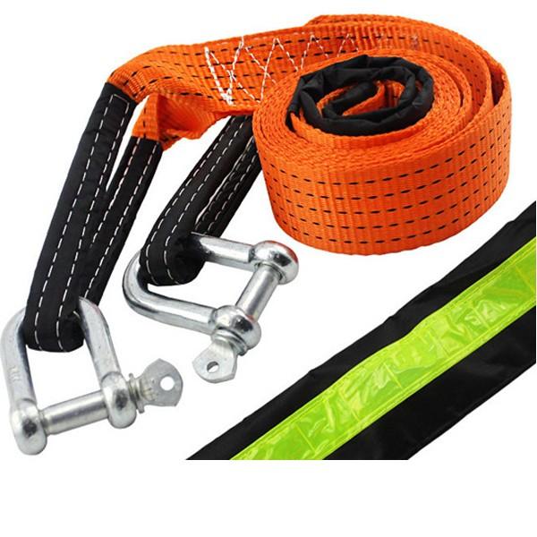 4 metri hanno accresciuto la corda di rimorchio di auto per 5 tonnellate con striscia pensosa che tira la corda di rimorchio di corda