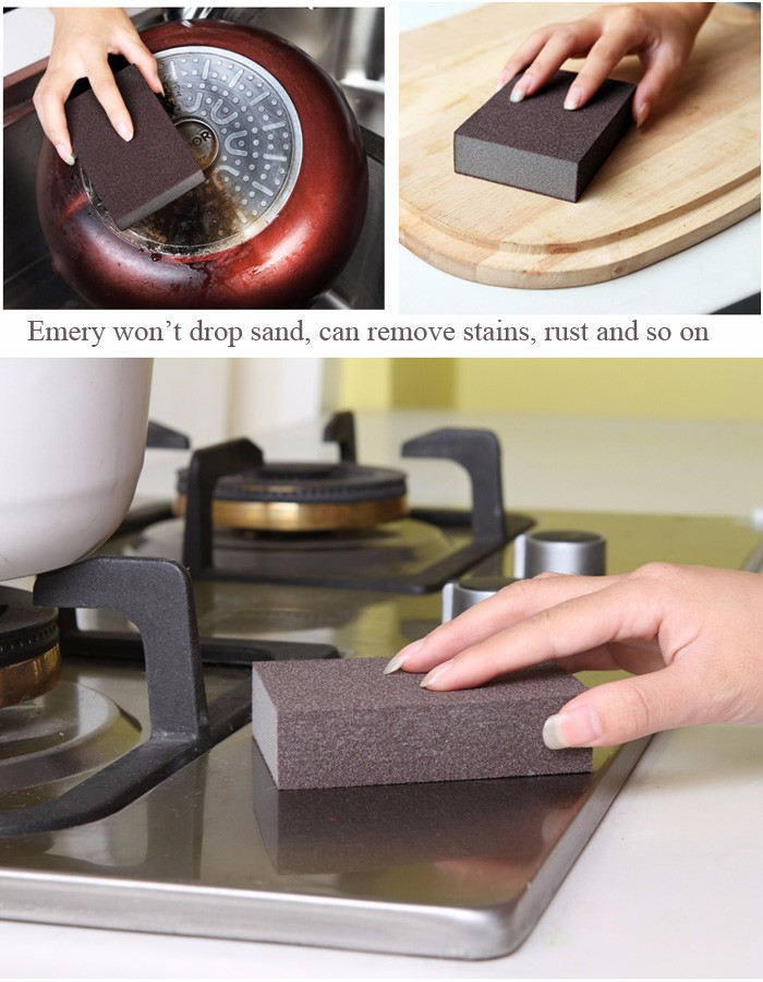 Magic Emery Sponge Brush Eraser Cleaner Kitchen Rust Cleaning Tool