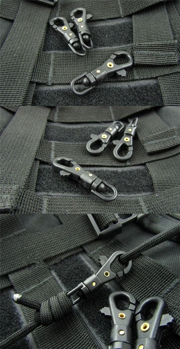 Mini Rotateable Buckle Hang Quickdraw Outdoor Survival Carabiner Key Chain Tool