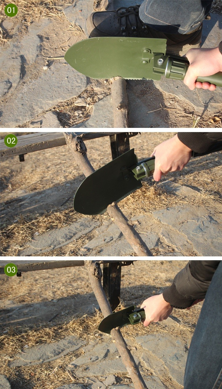 Mini Multi-function Carbon Steel Folding Shovel Survival Outdoor Trowel Dibble Pick Camping Sapper Tool