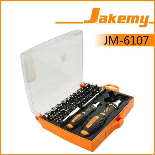 JAKEMY JM-6107 79 in 1 Hardware professionale cacciavite Set Electronics Repairtools Set di attrezzi per cricchetti