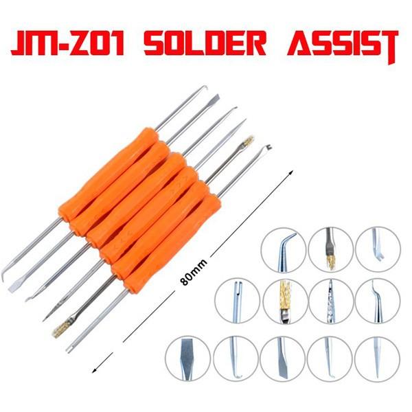 JAKEMY JM-Z01 6in1 Soldeer Assist Desoldeer Hulpmiddel Printplaat Soldeerhulpmiddelen Reinigingsset PCB