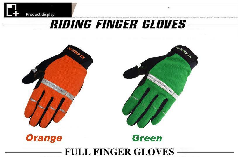 Велосипедные перчатки поездки езды на велосипеде перчаток горного велосипеда полные износостойкие перчатки пальцев