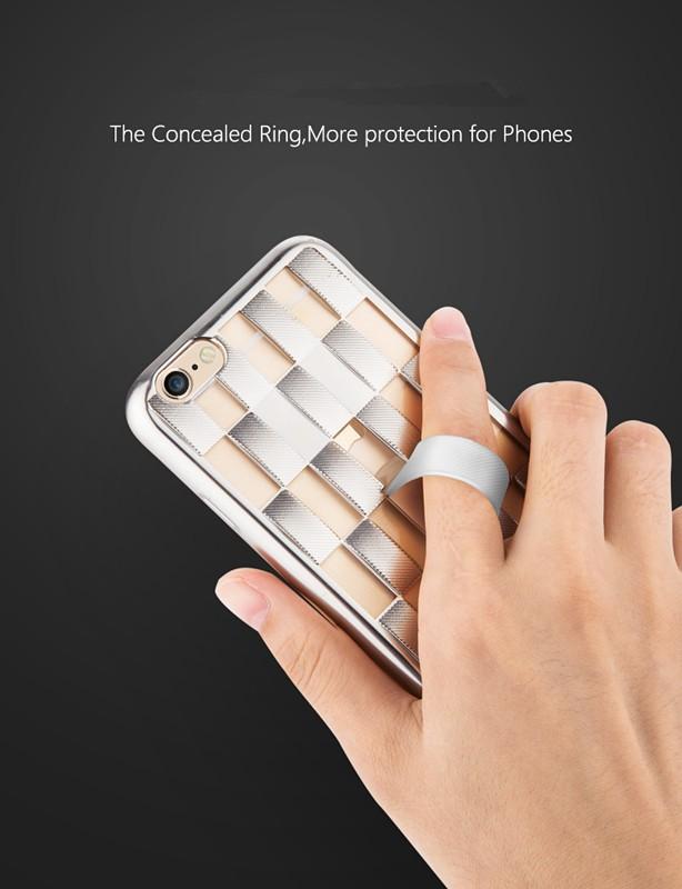 Защита joyroom cancealed кольцо кронштейн назад Мягкий чехол для ТПУ iPhone 6 / 6с