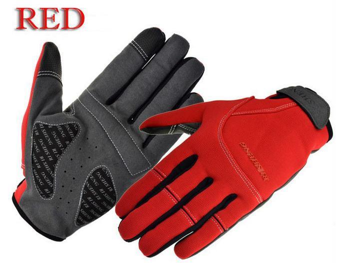 Deportes de guantes de la bicicleta de la moto al aire libre que montan guantes guantes de dedos llenos guantes de cuidado calientes suaves