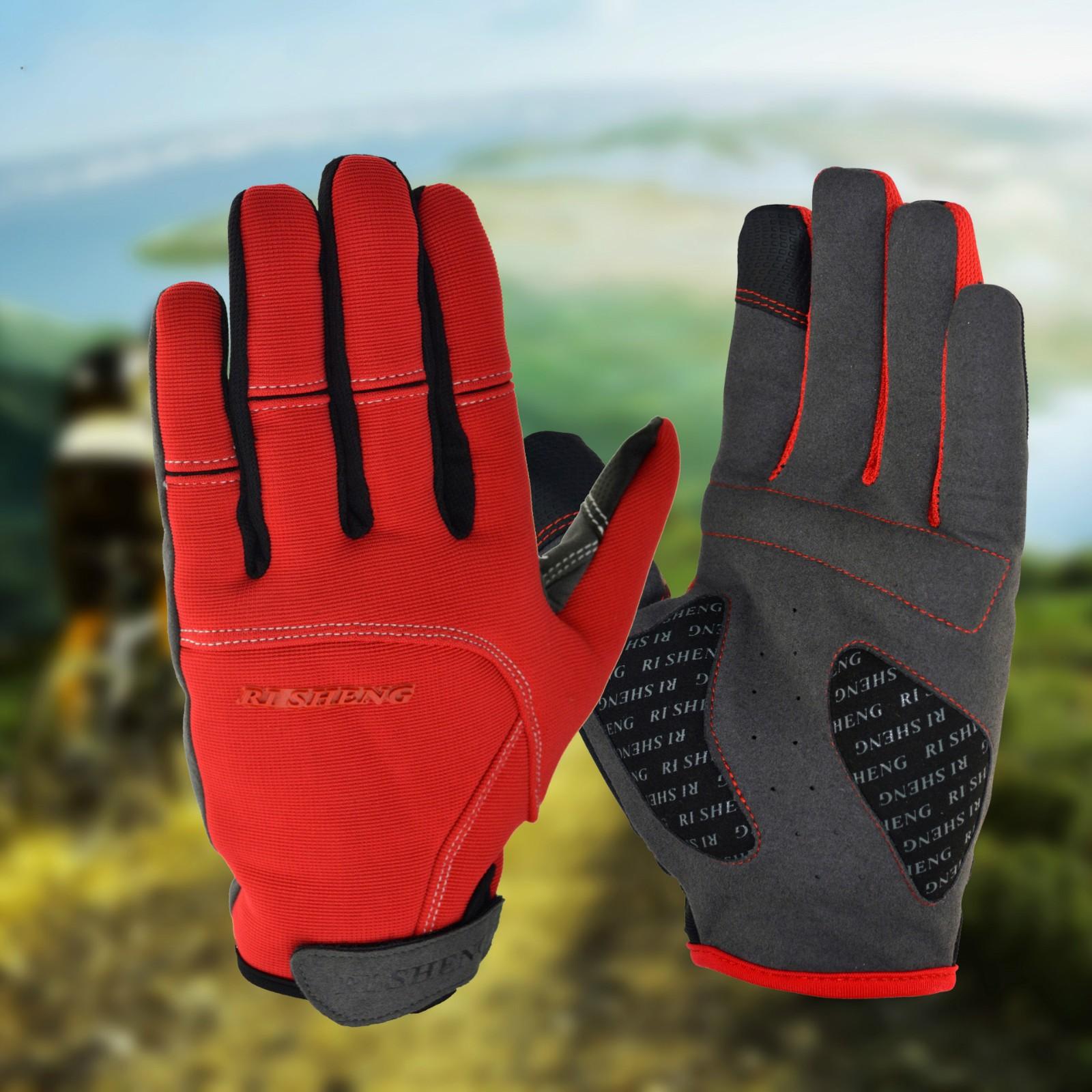 Наружные велосипедные велосипедные спортивные состязания перчаток едущие перчатки полные перчатки пальцев мягкие теплые перчатки хране