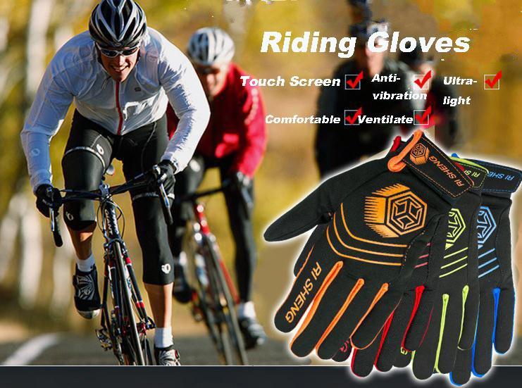 El ciclismo al aire libre que monta guantes de la pantalla táctil de guantes antipasa guantes de la bicicleta de la moto
