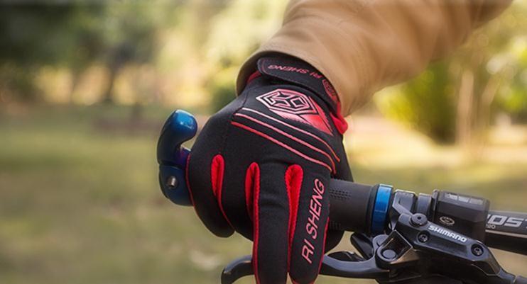 Il ciclismo all'aperto che va in guanti di schermo di contatto di guanti antiinfila guanti di bicicletta di bicicletta