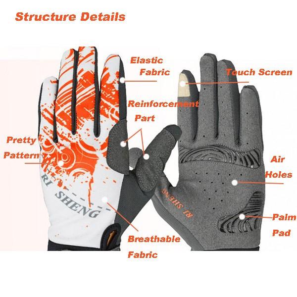 Велоспорт велосипед езда перчатки сенсорный экран перчатки полные пальцы перчатки