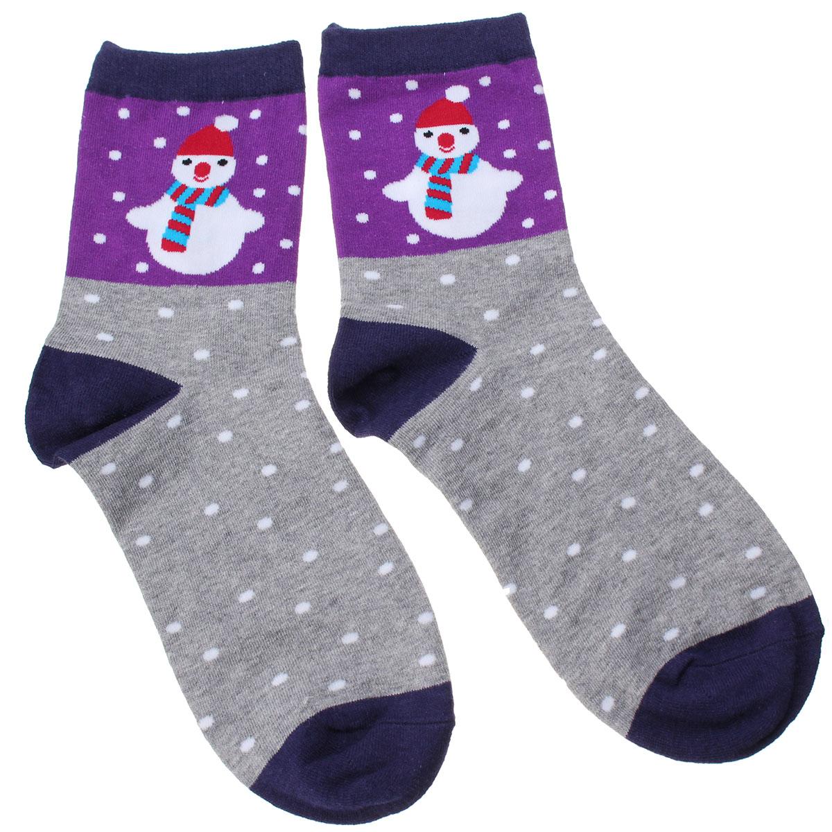 O presente de Natal de algodão de menina de mulheres homem de neve de santa salpica a malharia de coleção de caricatura de meias de tornozelo