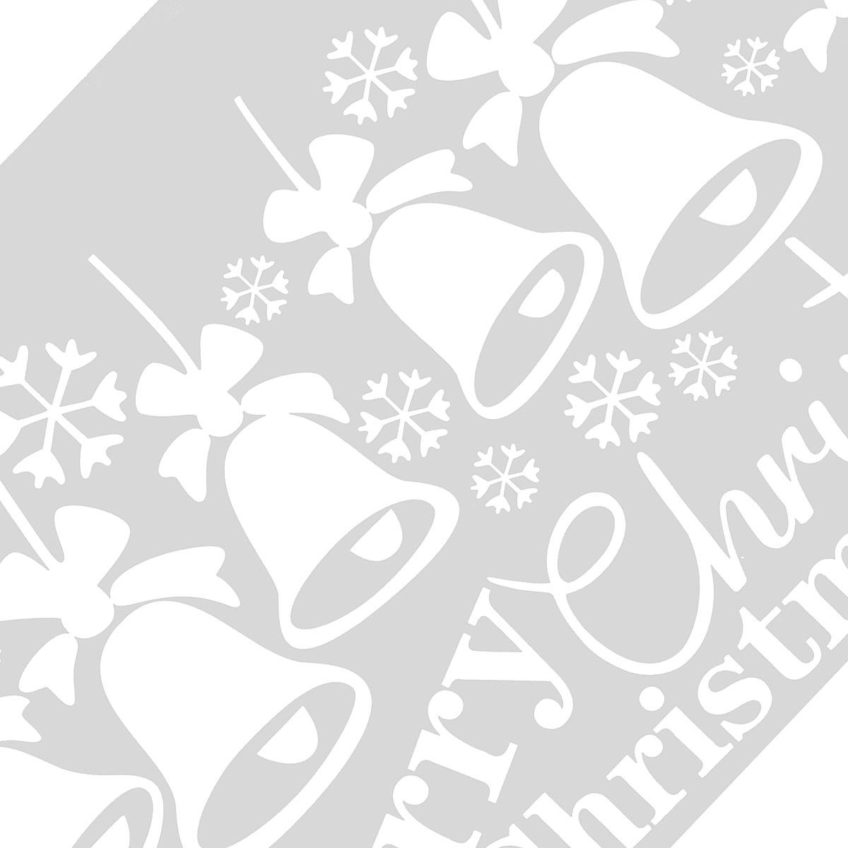 etichetta di parete di finestra di Natale di fiocco di neve di campanello di etichetta di parete di Natale allegra