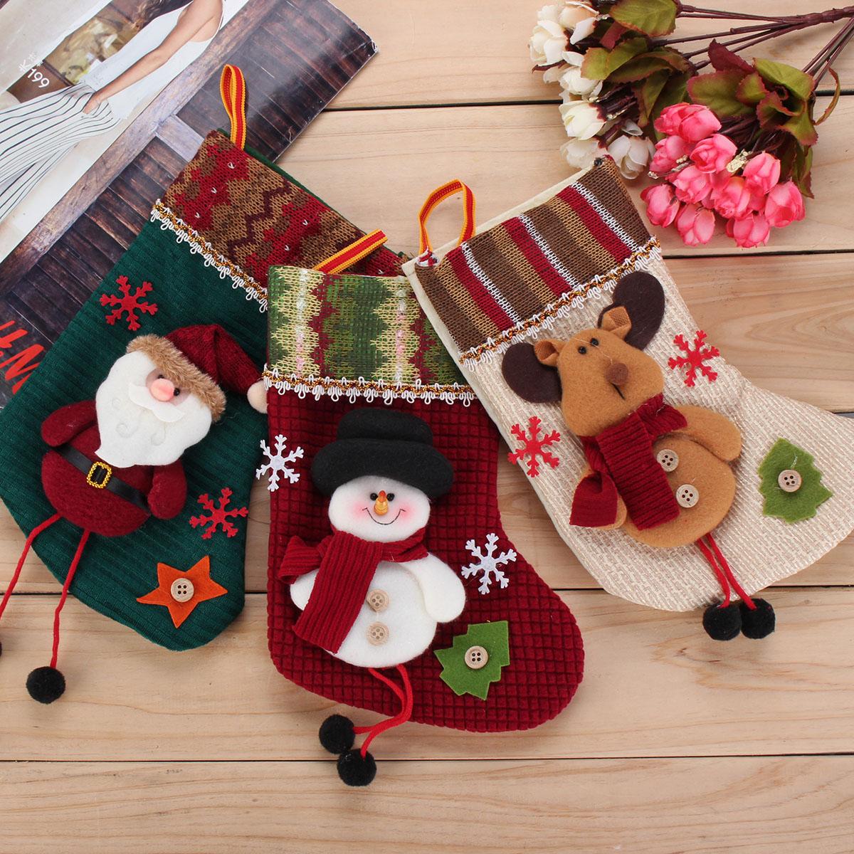 Christmas Santa Claus Hanging Gift Sock Christmas Hanging Ornament