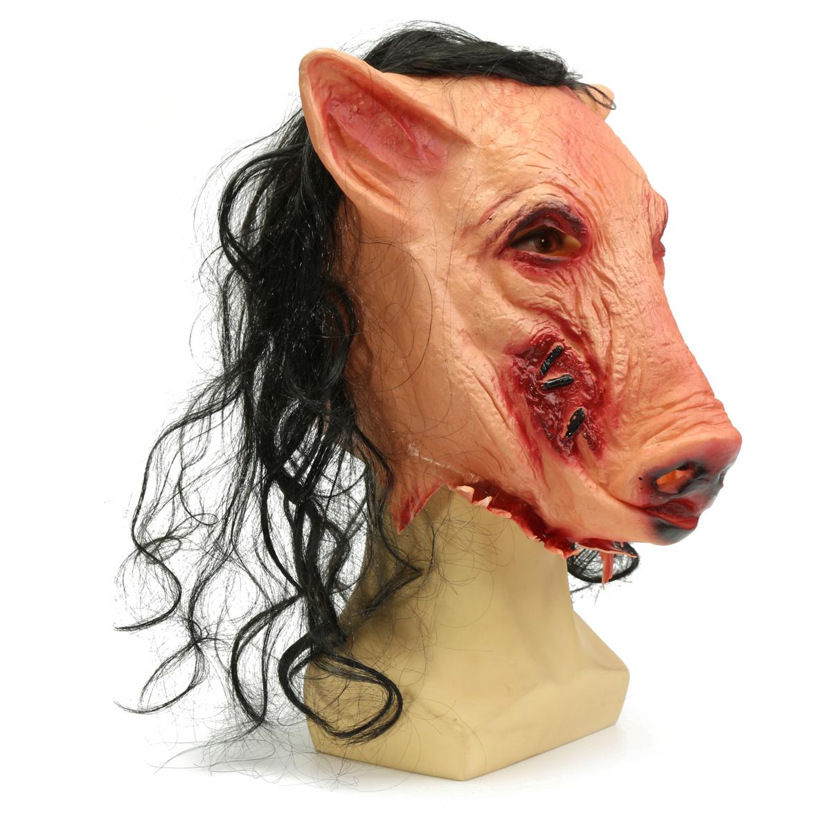 Halloween Scary Creepy Pig Animal Mask Halloween Costume Party Prop