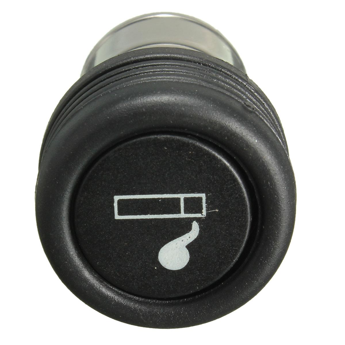 preto carro 12v auto isqueiro universal para a tomada padrão