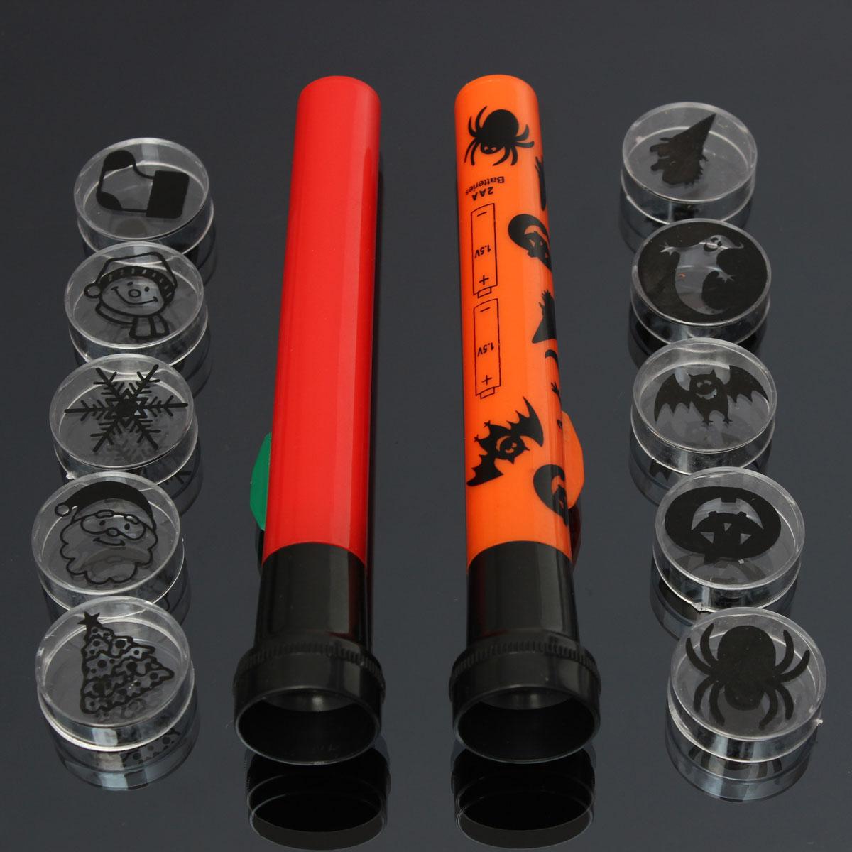 Halloween Proyector linterna truco antorcha con 5 proyección de juguetes para niños