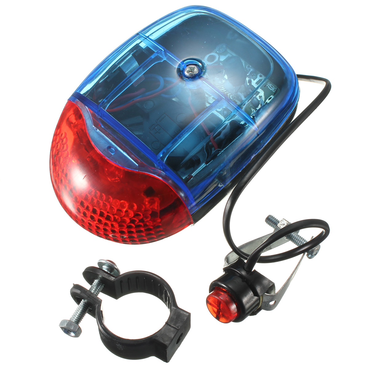 Cycling Bicycle Bike Warning Light LED Electronic Horn Bell Alarm Siren Sound Alertor