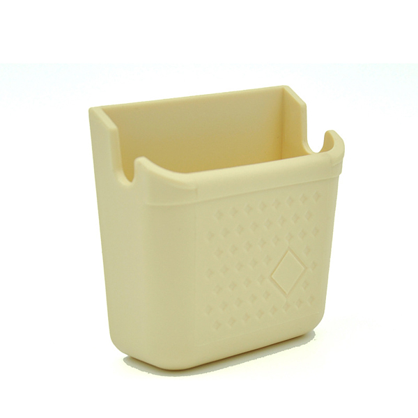 Mini Cream-colored Car Phone Storage Box Paste Type Car Phone Carrying Box Phone Holder