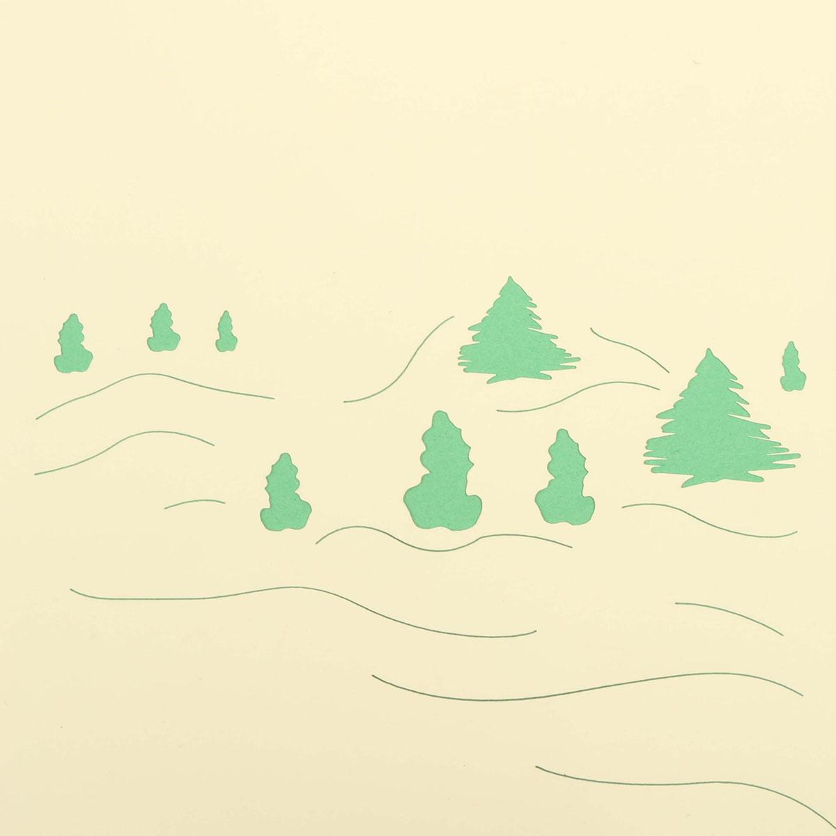 o Natal santa clau fez o 3o cartão de saudação à mão surge o cartão