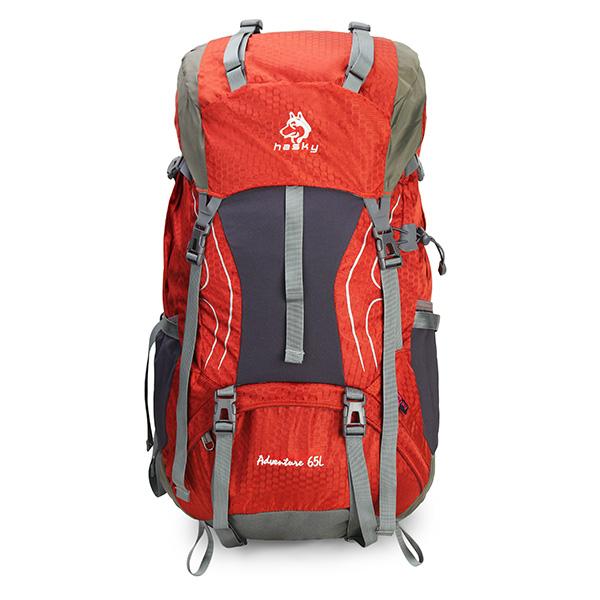 65L Outdoor แคมป์ปิ้ง กระเป๋าเดินทางเป้สะพายหลังปีนเขา Mountaineering กระเป๋าเดินทาง Rampage