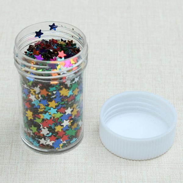Color mezclado 12pcs materiales decoraciones de la estrella / deslumbramiento establecer material de obra de pintura bricolaje brillante