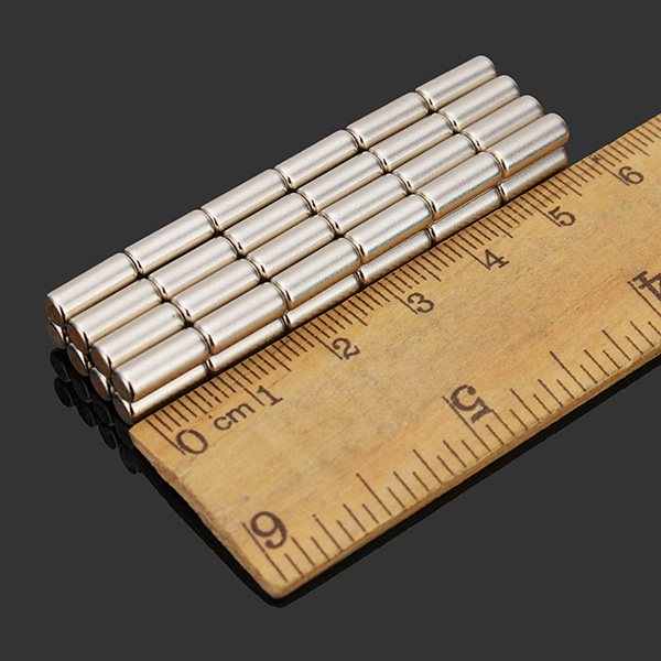 50pcs N35 extra fuertes imanes de disco de 4 mm x 10 mm de tierras raras de neodimio imanes