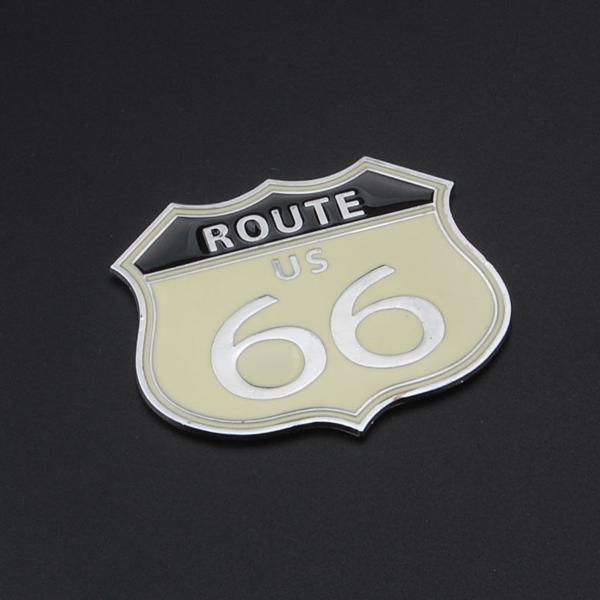 ROUTE US 66 Araba Sticker Dönüştürülmüş Anma Çok Amaçlı Metal Çıkartması