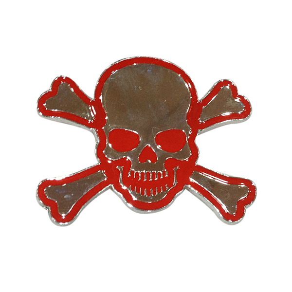 Chromatic Metal Skull Sticker 3D Ghost Car Sticker Collision Avoidance Sticker