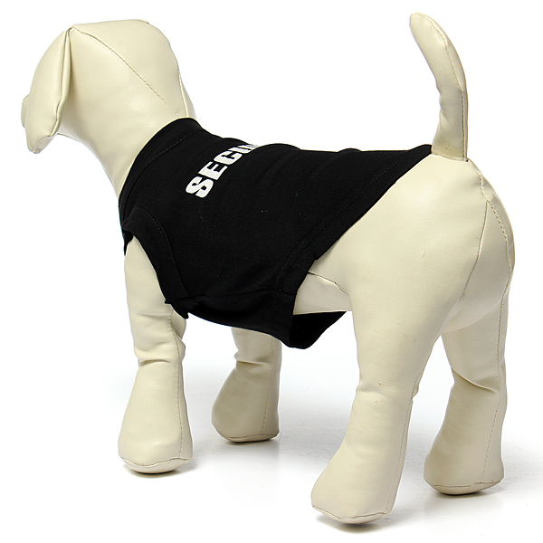 Black Cool Dog Vest Pet Cat Puppy Summer Clothes T-Shirt Cotton Coat Apparel Costumes