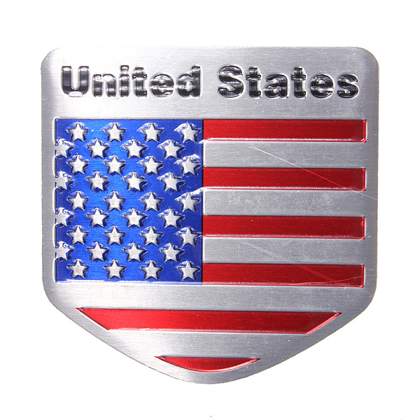 VS Vlag Metalen Auto Aanpassende Car Badge Embleem Decal Sticker