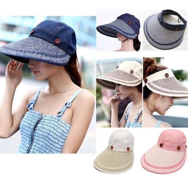 chapeau paille femme large bord capeline plage ete soleil casquette toile fille. Black Bedroom Furniture Sets. Home Design Ideas