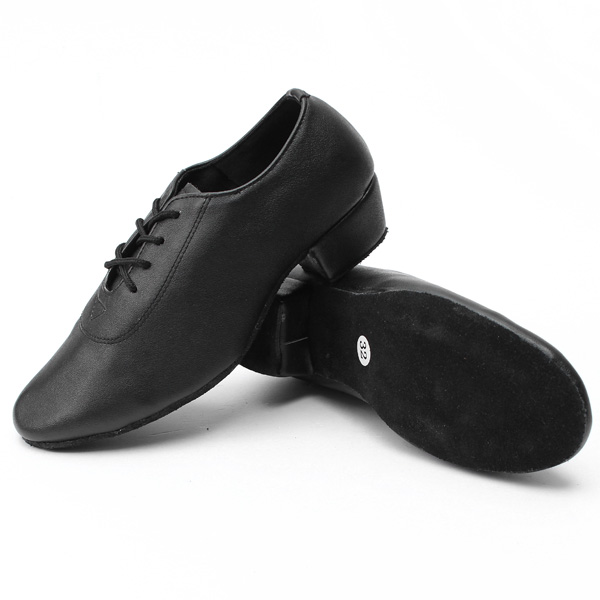 Ballroom Dance Shoes Leather Mid Heel