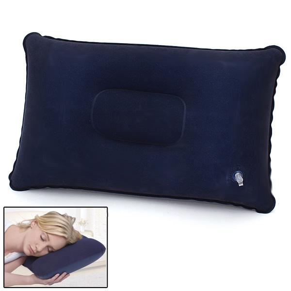 neufu oreiller gonflable de voyage camping plage voiture avion appuie tete coussin bleu achat. Black Bedroom Furniture Sets. Home Design Ideas