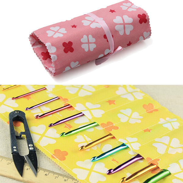 Knitting Needle Case Not On The High Street : Non woven crochet hook knitting needle pencil case holder