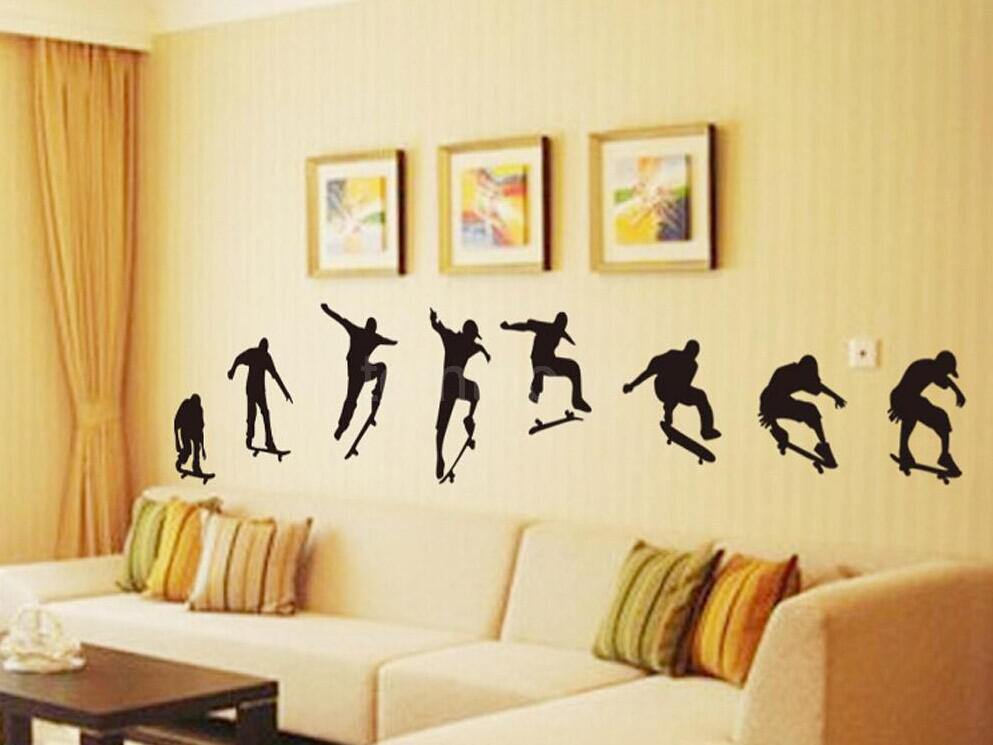 Diy skateboard wall sticker kids boys bedroom mural decal for Room decor lazada