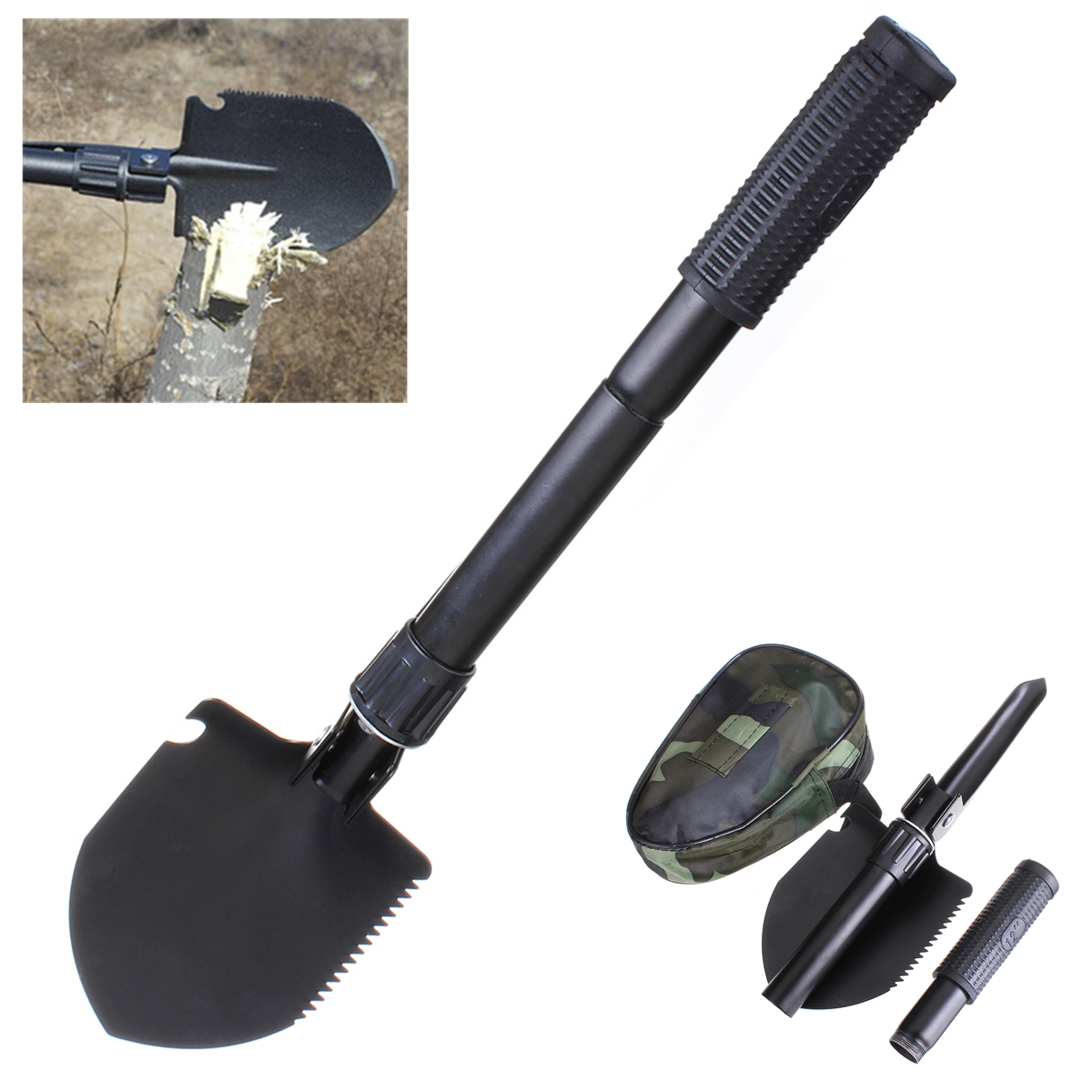 Military folding shovel survival spade emergency garden for Gardening tools malaysia