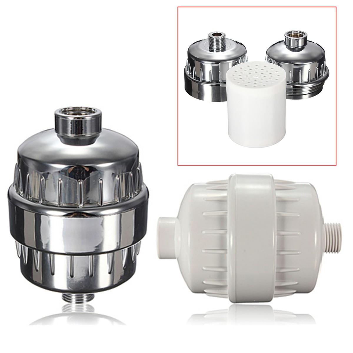 safe in line shower filter softener chlorine removal water purifier 4 c 60 c chrome. Black Bedroom Furniture Sets. Home Design Ideas