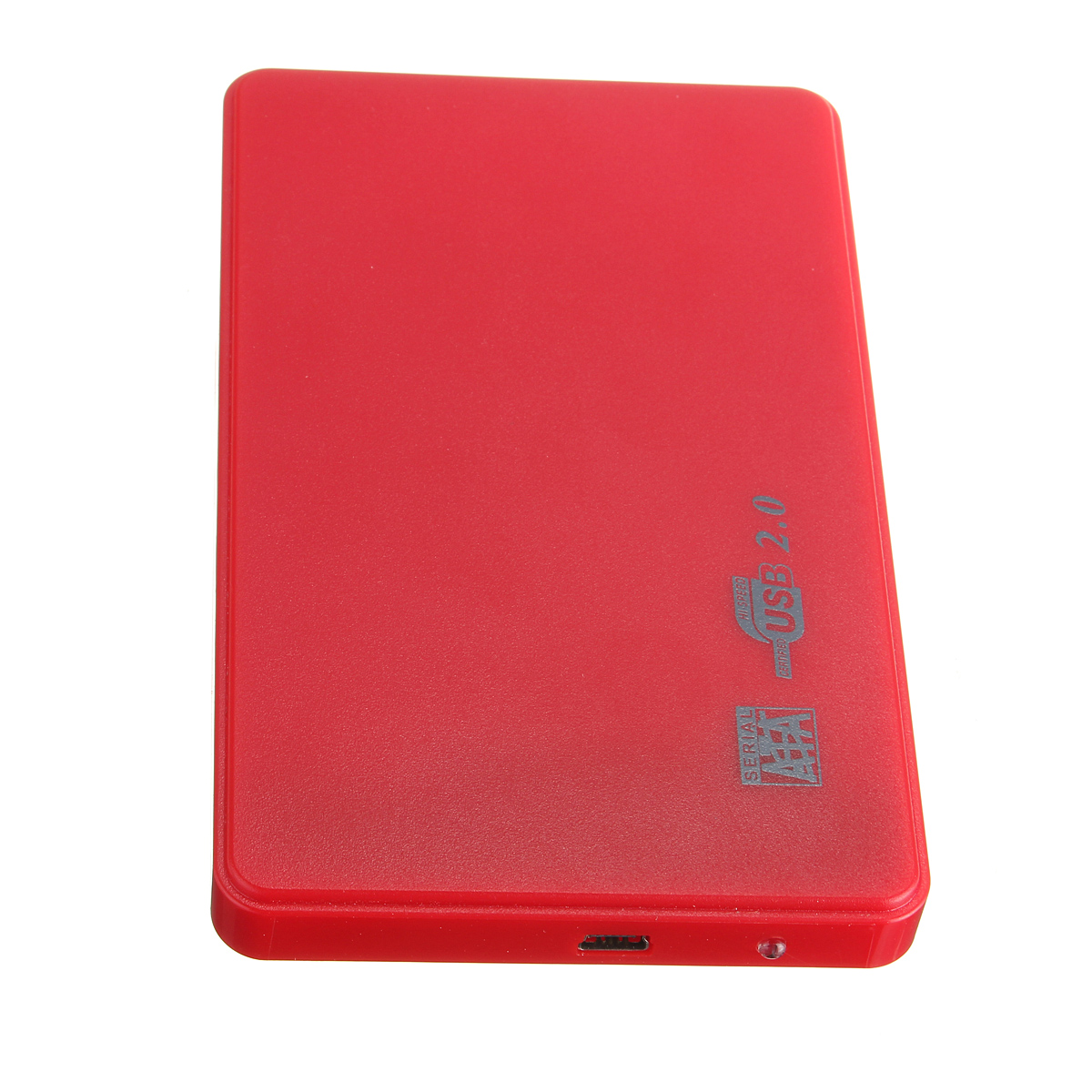 ... Disk USB 2.0 Slim Box Case Esterno AdattatoreDrive+Cavo Red (EXPORT