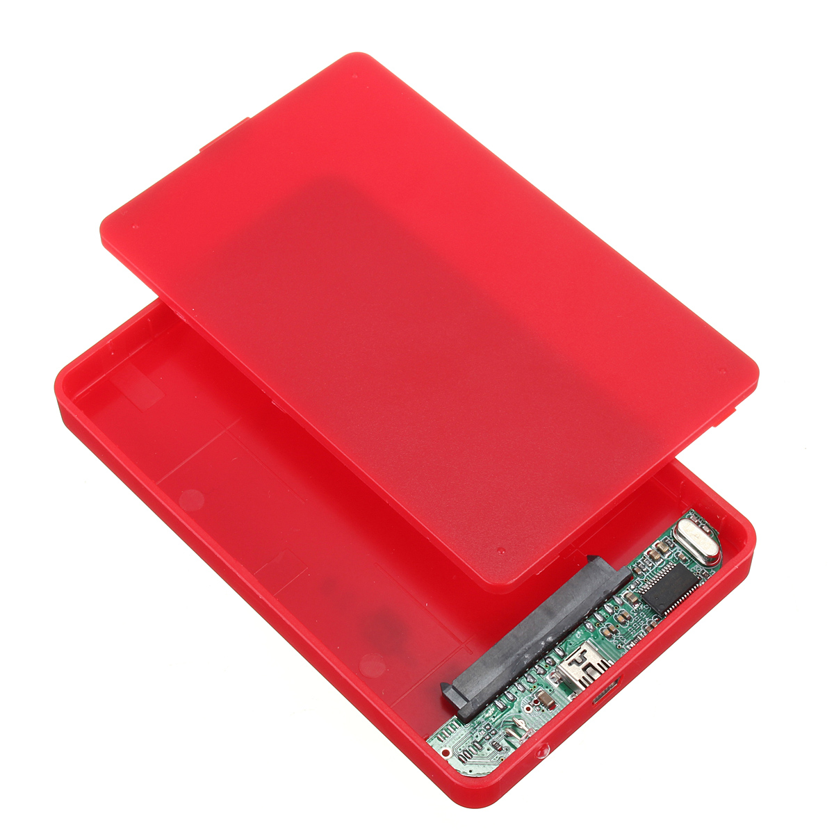 ... HDD Hard Disk USB 2.0 Slim Box Case Esterno AdattatoreDrive+Cavo Red