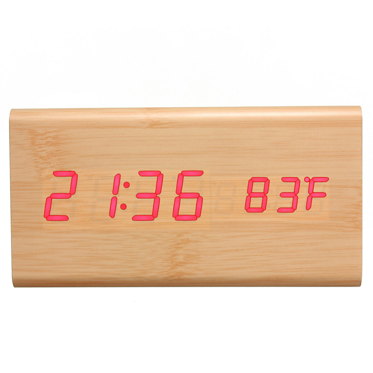 digitaler led wecker thermometer kalender wooden holz alarm temperatur uhr datum lazada malaysia. Black Bedroom Furniture Sets. Home Design Ideas