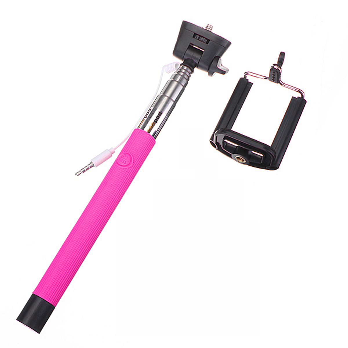 telescopic handheld monopod selfie stick for iphone 6 6 plus sony htc lg moto pink. Black Bedroom Furniture Sets. Home Design Ideas