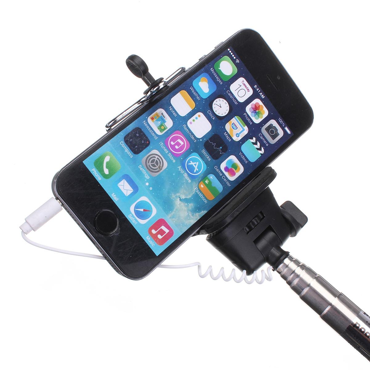 telescopic handheld monopod selfie stick for iphone 6 6 plus sony htc lg moto pink. Black Bedroom Furniture Sets. Home Design Ideas