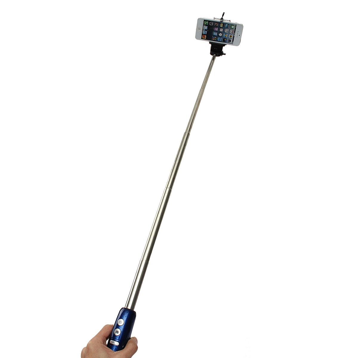 mce 25cm bluetooth shutter monopod stick for iphone samsung galaxy nexus htc sony lg blue. Black Bedroom Furniture Sets. Home Design Ideas