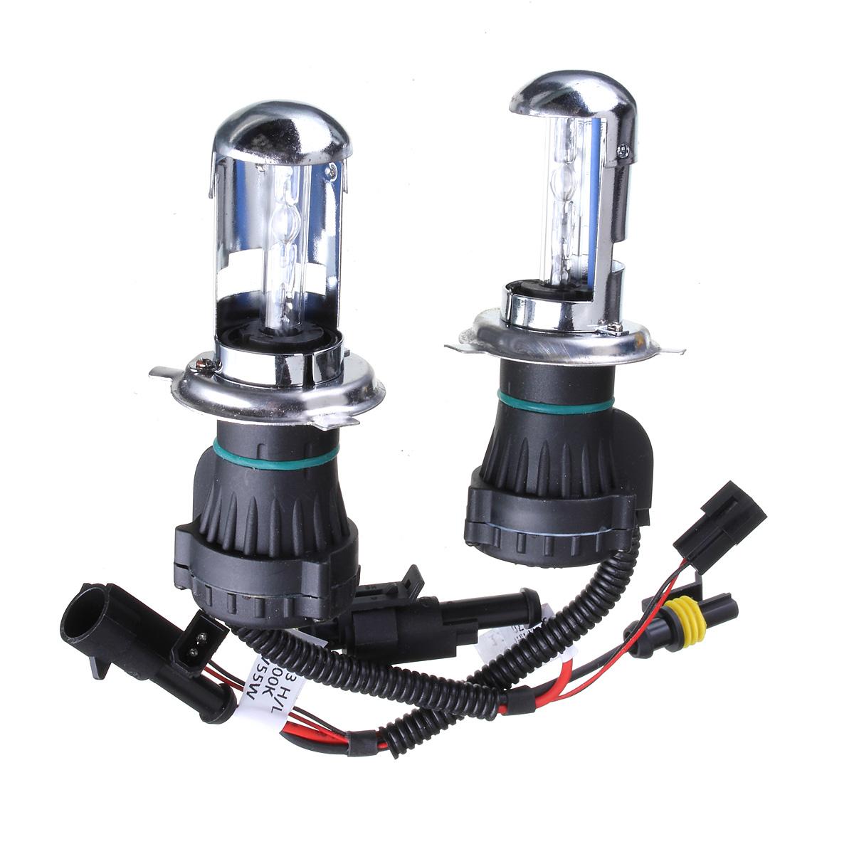 2x h4 55w hi low dual beam hid bi xenon bulb lamp light conversion slim kit 12000k export. Black Bedroom Furniture Sets. Home Design Ideas