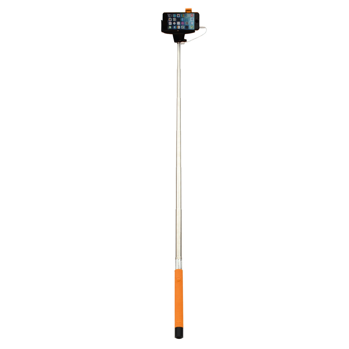 remote button wired handheld selfie stick monopod for iphone cellphone sony htc. Black Bedroom Furniture Sets. Home Design Ideas