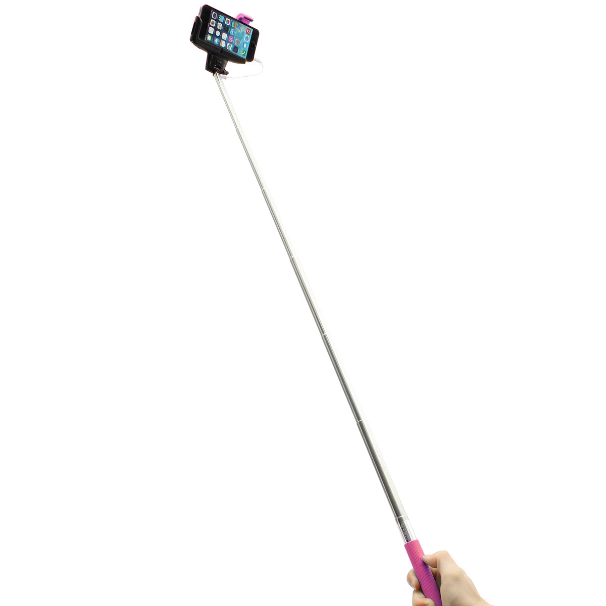 remote button wired handheld selfie stick monopod for iphone cellphone sony htc lazada malaysia. Black Bedroom Furniture Sets. Home Design Ideas