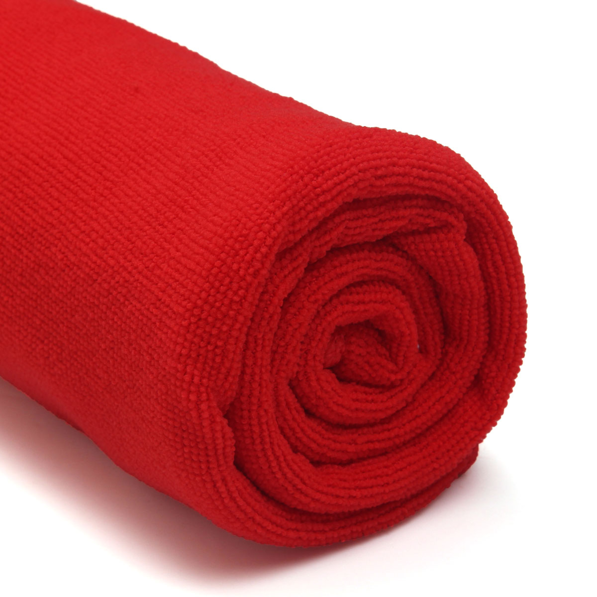 Red Microfiber Bath Towels: Absorbent Microfiber Towel Bath Quick Drying Washcloth