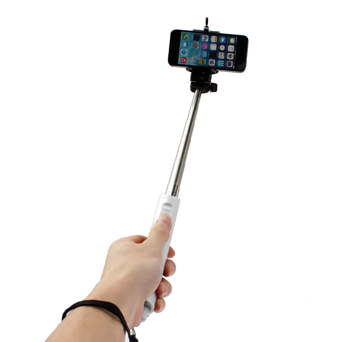 handheld bluetooth remote selfie stick monopod extendable for cell phone whi. Black Bedroom Furniture Sets. Home Design Ideas