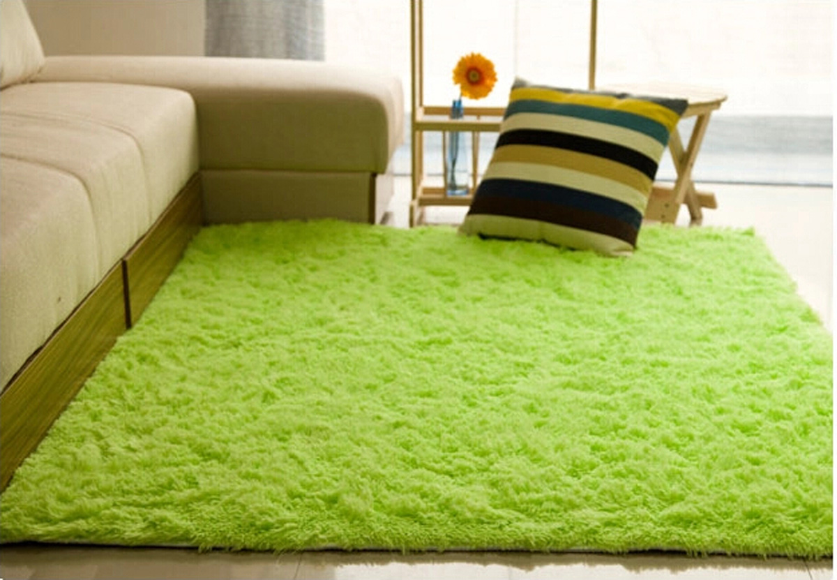 Shaggy Anti Skid Carpets Rugs Floor Mat Cover 80120cm
